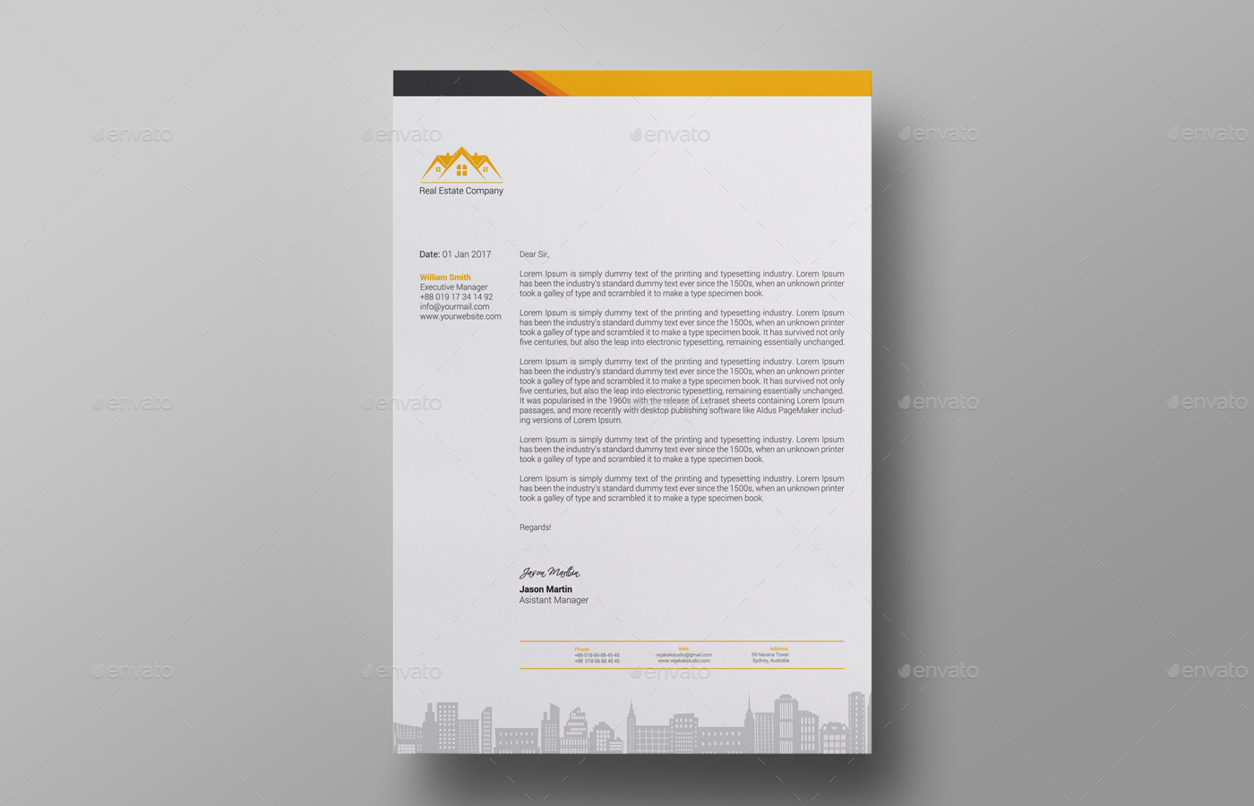 Letterhead Design By Vejakakstudio GraphicRiver