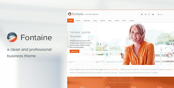 Fontaine - Responsive Joomla Business Template