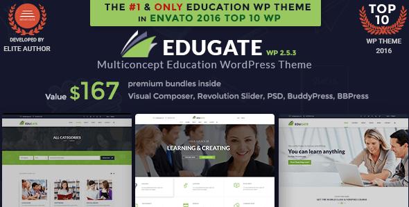 Education WordPress Theme   Education WP Edugate