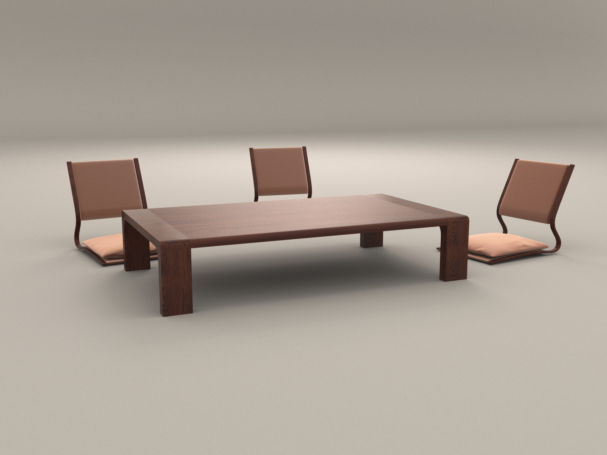 Japanese Chair Japanese Style Low Dining Table And Chair