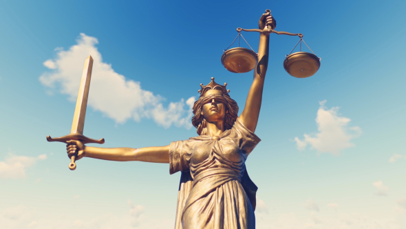 Statue of Lady Justice by Handrox-G | VideoHive