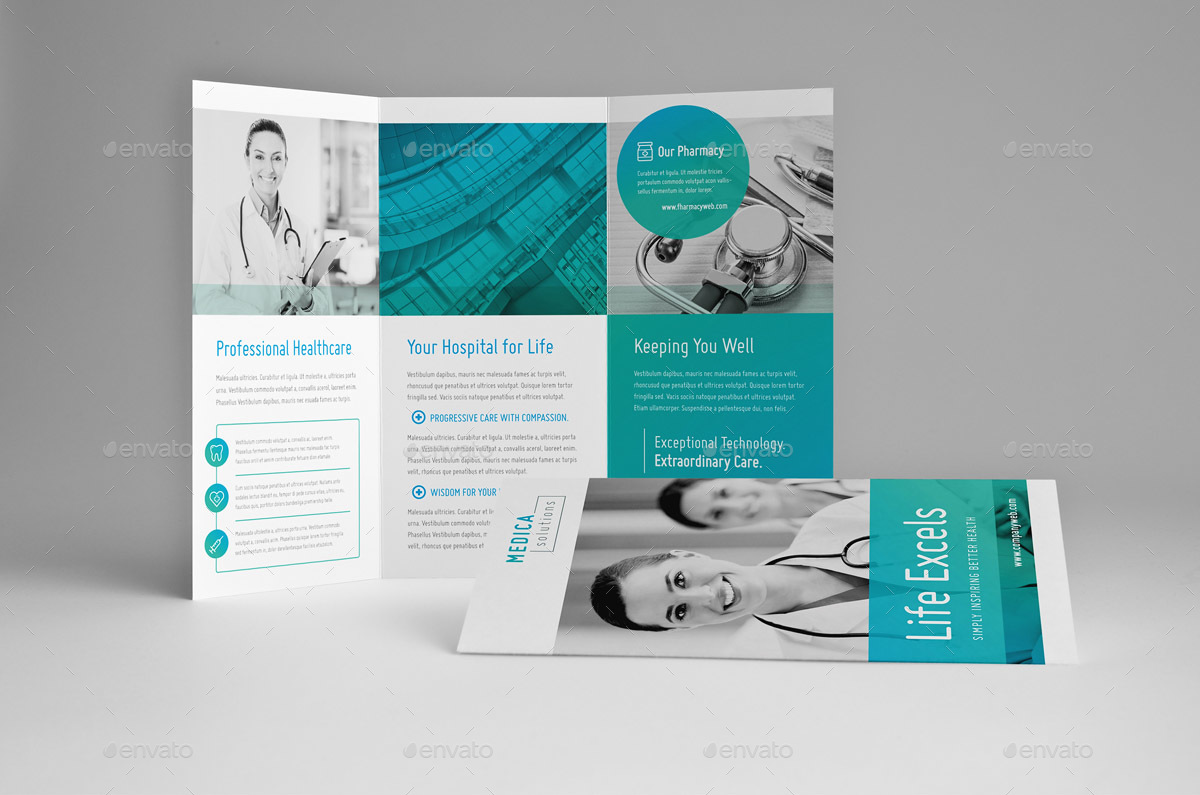 Modern Medical Trifold Brochure by Snowboy  GraphicRiver
