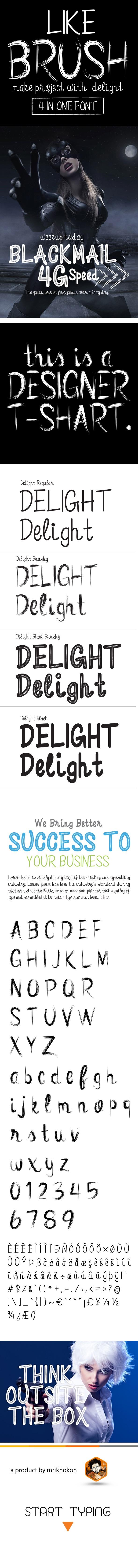 Free Font Delight Font Download