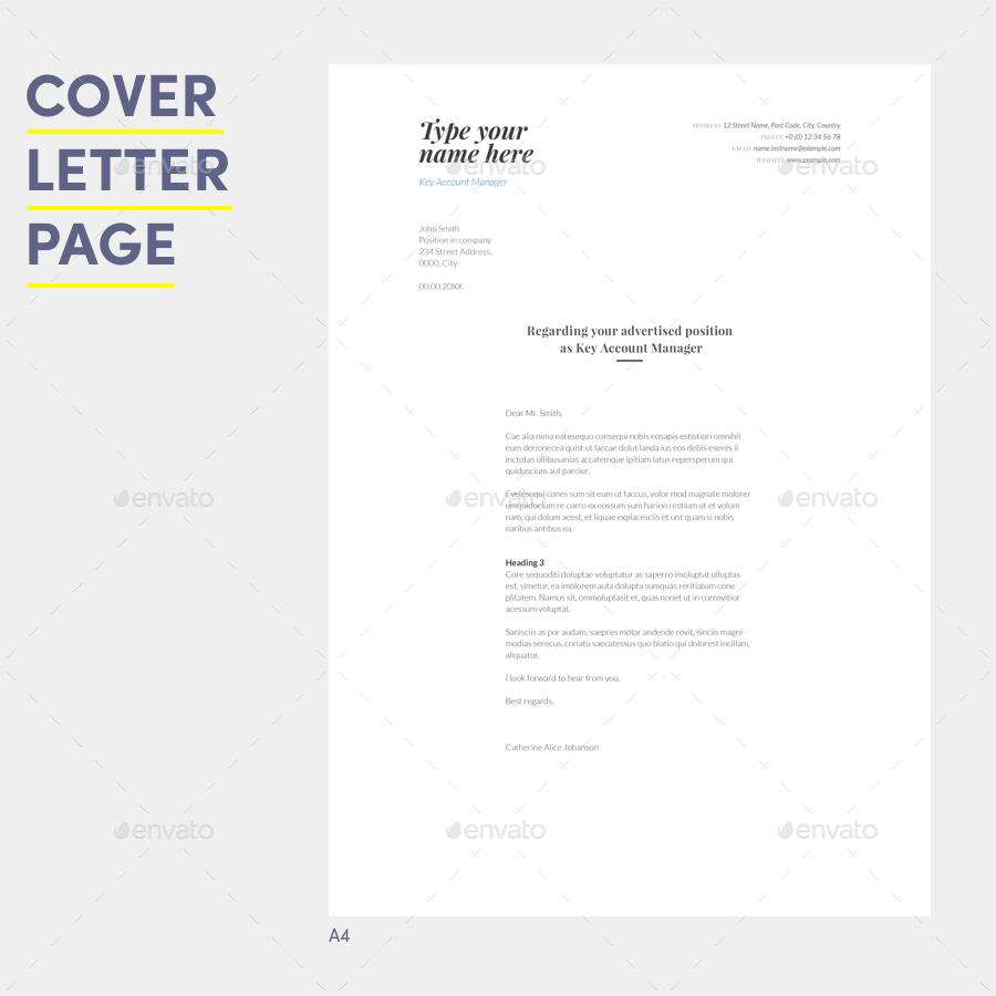 resume cover letter with references