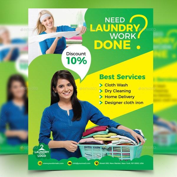 Laundry Service Flyer Design Station Graphicriver