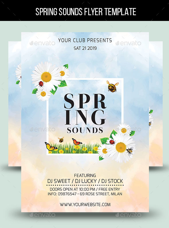 Spring Sounds Flyer Template By Lapabrothers