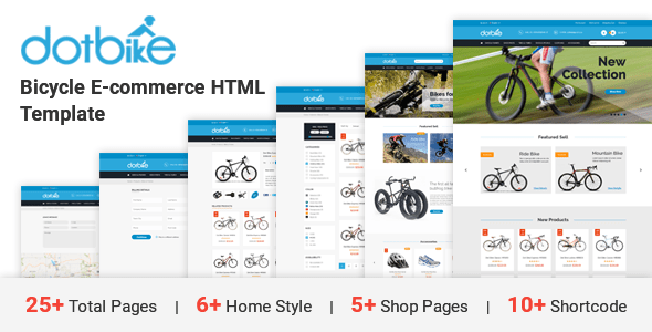DotBike - Bicycle e-commerce HTML Template