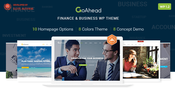 Finance WordPress Theme   Finance WP GoAhead (Finance, Accounting, Consulting, Startup)