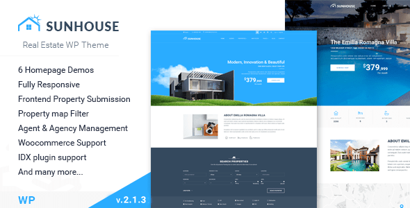 Sun House - Real Estate WP   Responsive Real Estate WordPress Theme