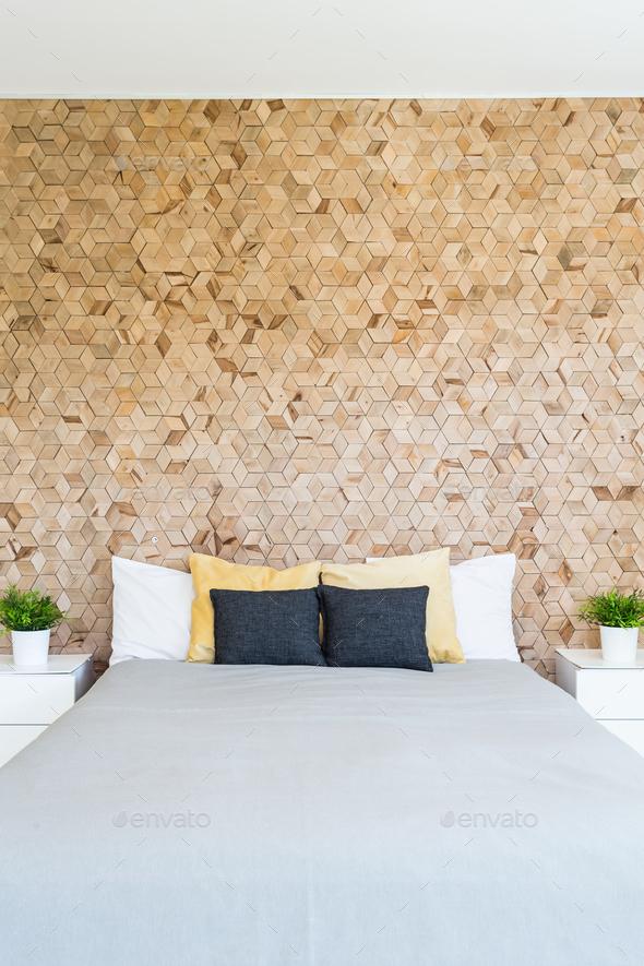 https photodune net item scandynacian style cork wall in bedroom 19838227