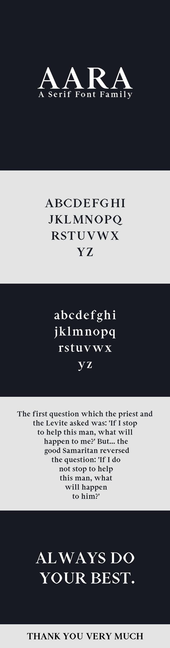 Free Font Aara Serif Font Family Download