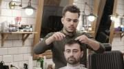 man hairdresser haircut beard