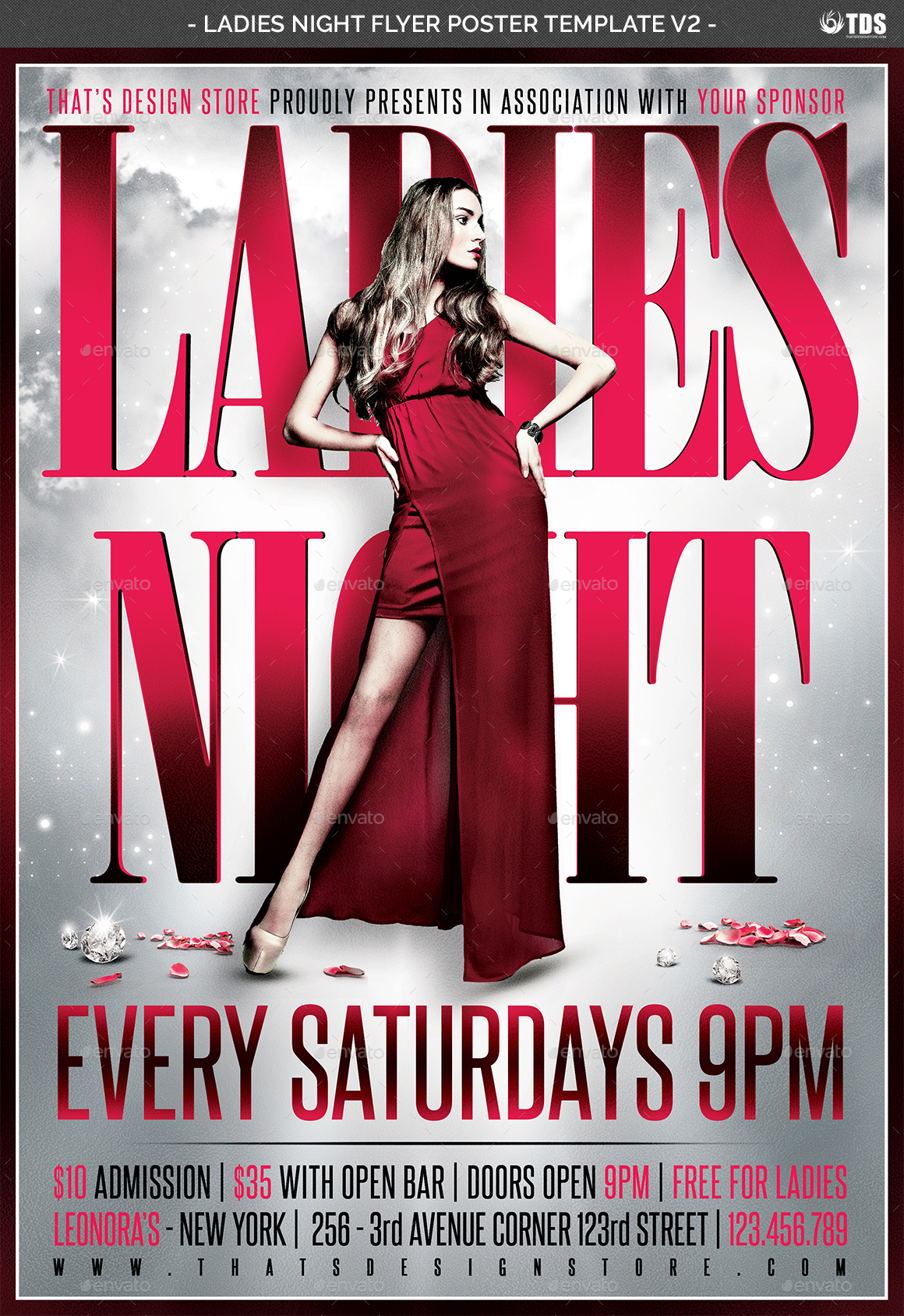 Ladies Night Flyer Poster Template V2 By Lou606 GraphicRiver