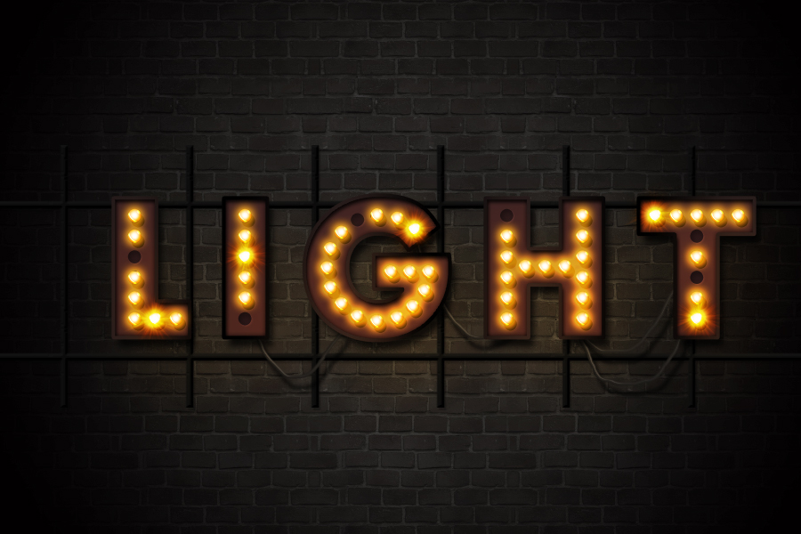 Marquee Lights and Showtime Sign Photoshop Actions by