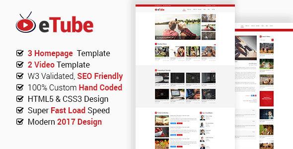 eTube HTML Template