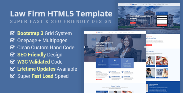 LawFirmHTML Template