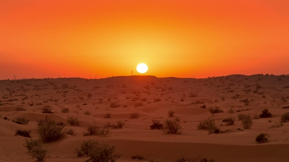 golden sunset over the