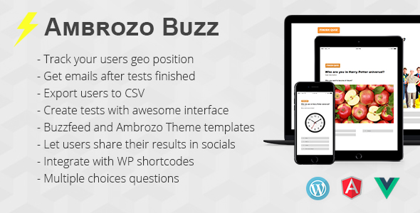 AmBuzz Quiz & Tests WordPress Plugin