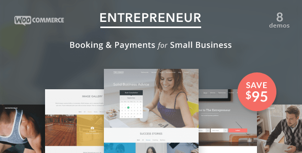 Entrepreneur - Booking for Small Businesses WordPress theme