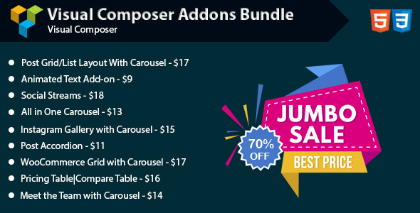 WPBakery Page Builder Addons Bundle (formerly Visual Composer) - CodeCanyon Item for Sale