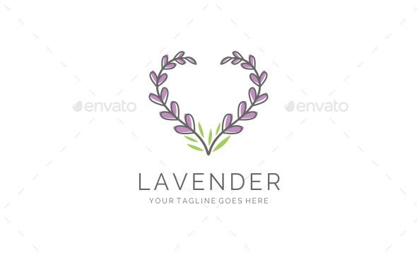 Elegant Feminine Love Lavender Logo by pinnuts  GraphicRiver
