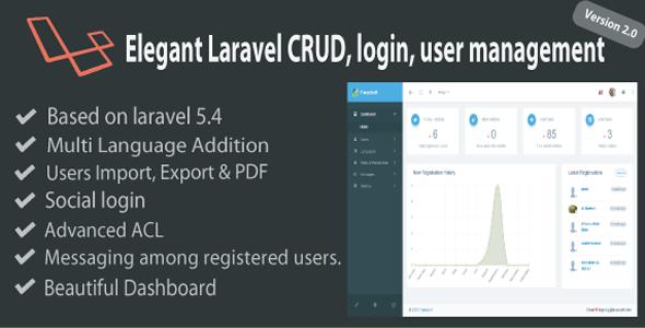 Elegant Laravel CRUD - Login & User Management
