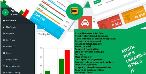 itaxi taxi booking web admin template laravel vuejs