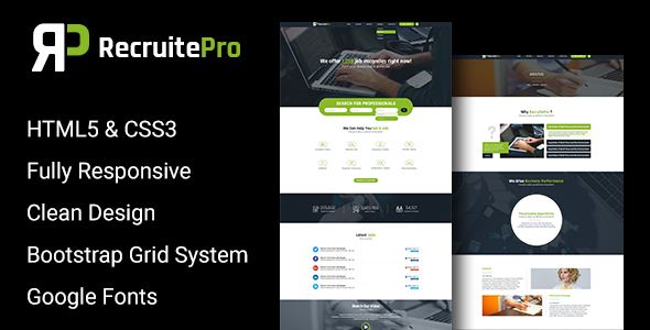 Recruit Pro Staffing and Recruiting HTML Template by sbTechnosoft ...