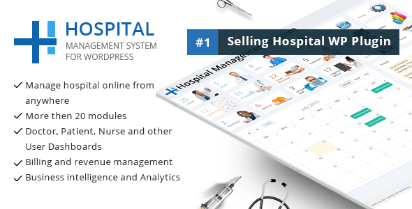 Hospital Administration System for Wordpress 01 hospital preview imag1