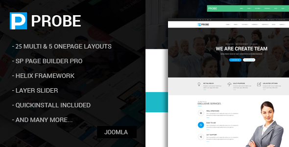 Probe - Responsive Multi-Purpose Joomla Theme With Page Builder - Corporate Joomla