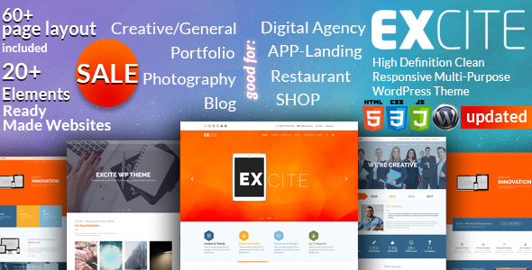 Excite – Clean Responsive Multi-Purpose WordPress Theme