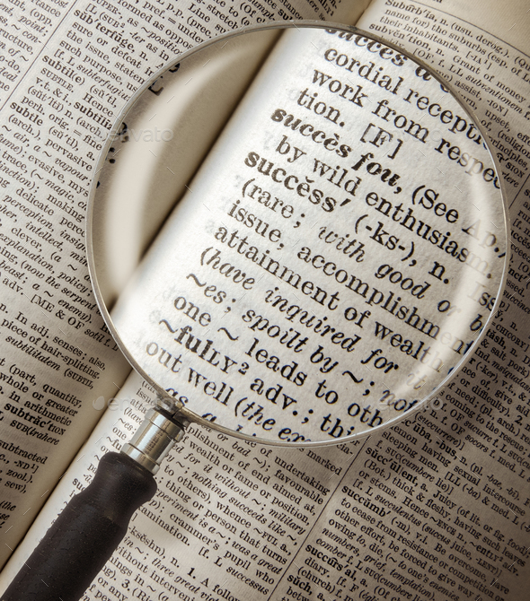 dictionary success magnified