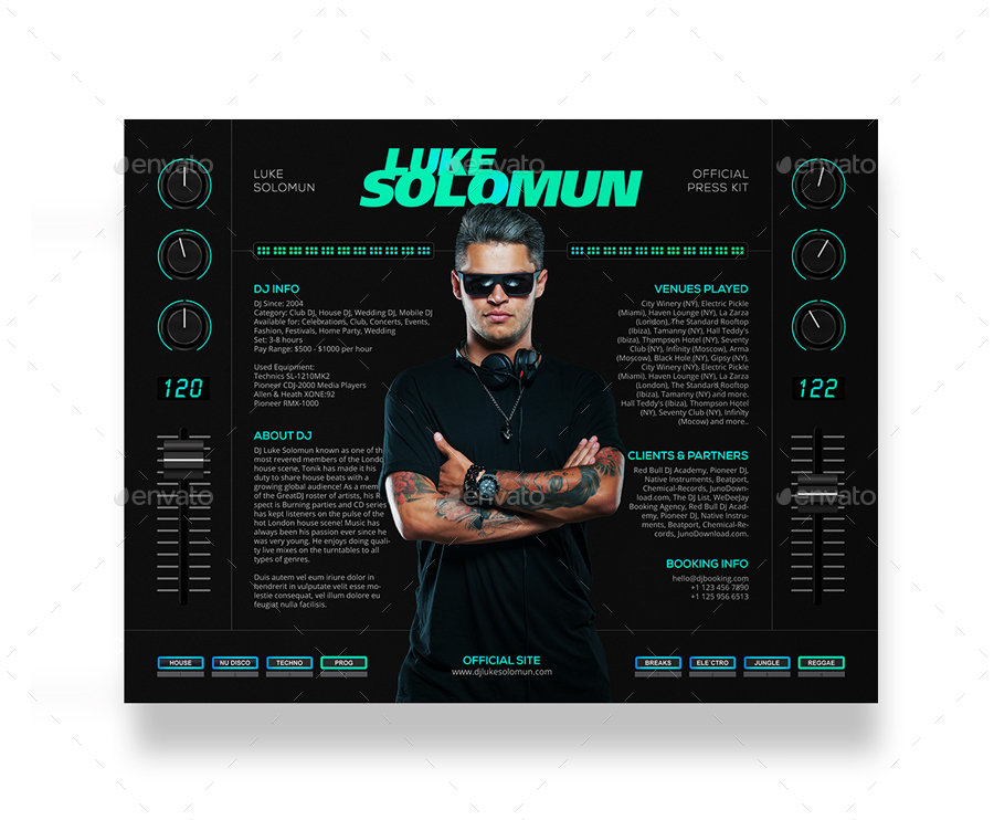 MaDJestik DJ Press Kit DJ Resume DJ Rider PSD