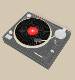 turntable sketch and toon  [ 1600 x 1200 Pixel ]
