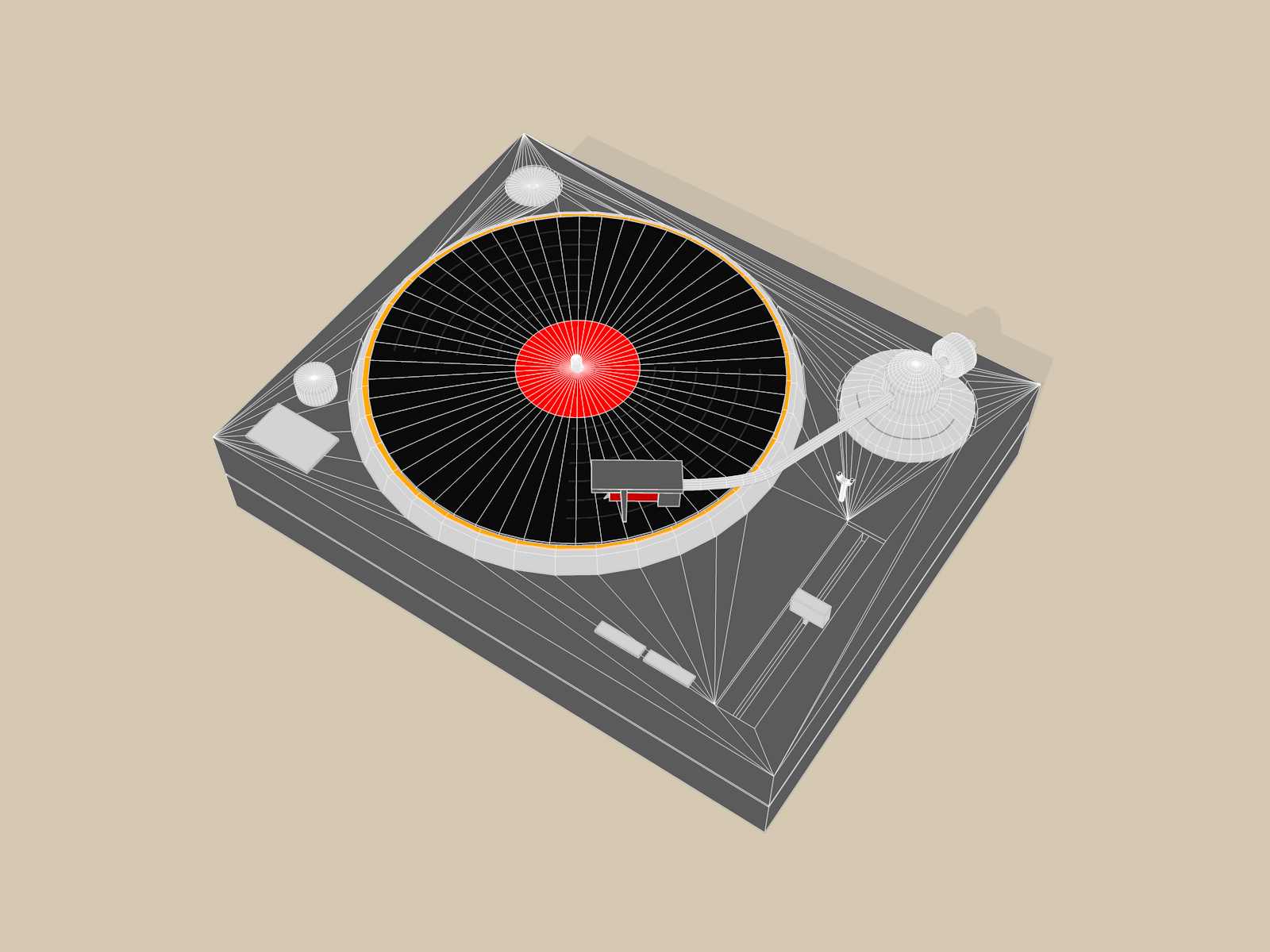 hight resolution of turntable sketch and toon