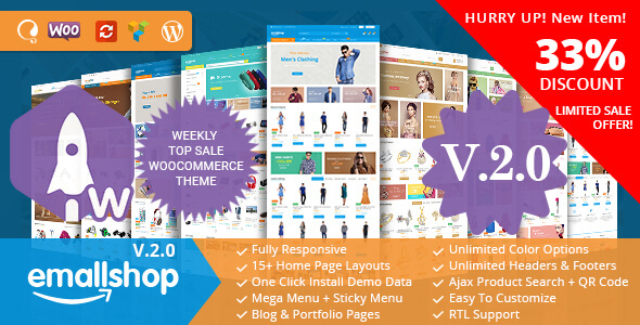 EmallShop - Responsive Multipurpose WooCommerce Theme - WooCommerce eCommerce