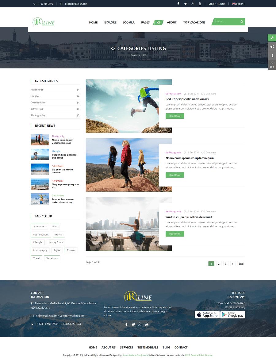 Abgx360 Download 2016 : abgx360, download, Urline, Responsive, Travel, Joomla, Template