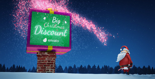 Fun & Magical Santa Claus Video for Gifts and Discounts - After Effects Video