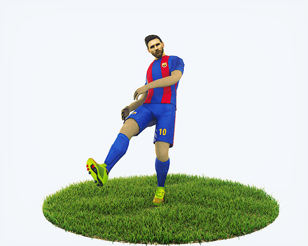 Lionel Messi Game Ready Football Player Kick Animation by