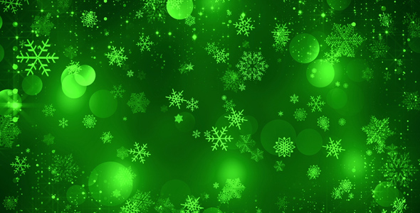 Wallpaper Phone Falling Snowflakes Green Christmas Background By As 100 Videohive
