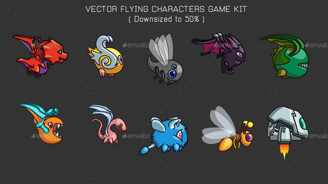 vector game characters sprites
