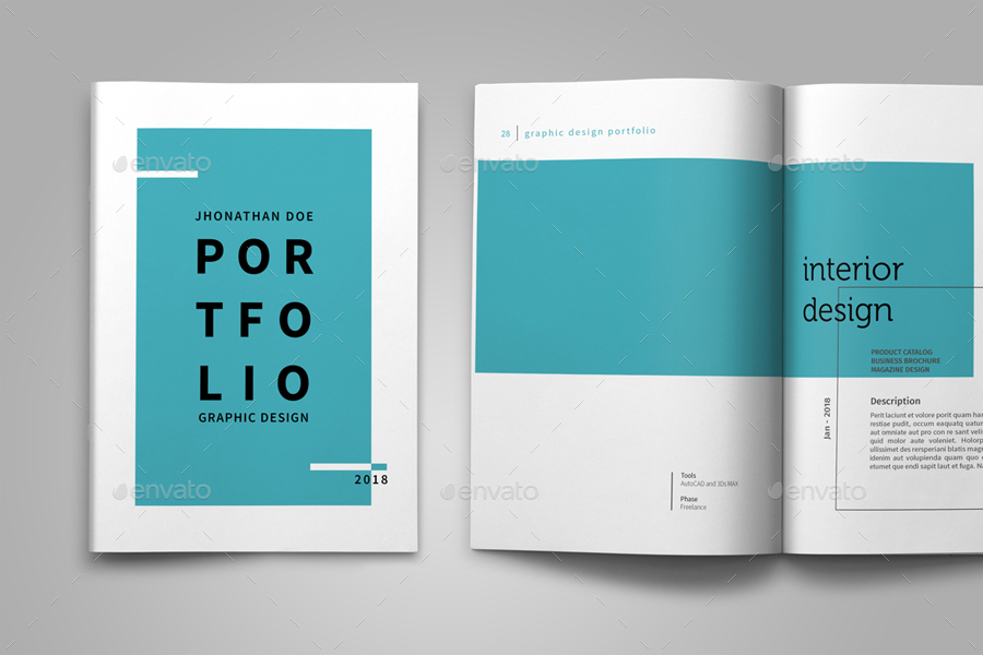 Graphic Design Portfolio Template By Adekfotografia GraphicRiver