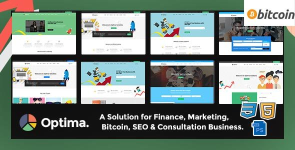 Optima - Consulting,Finance, Business Agency PSD Template