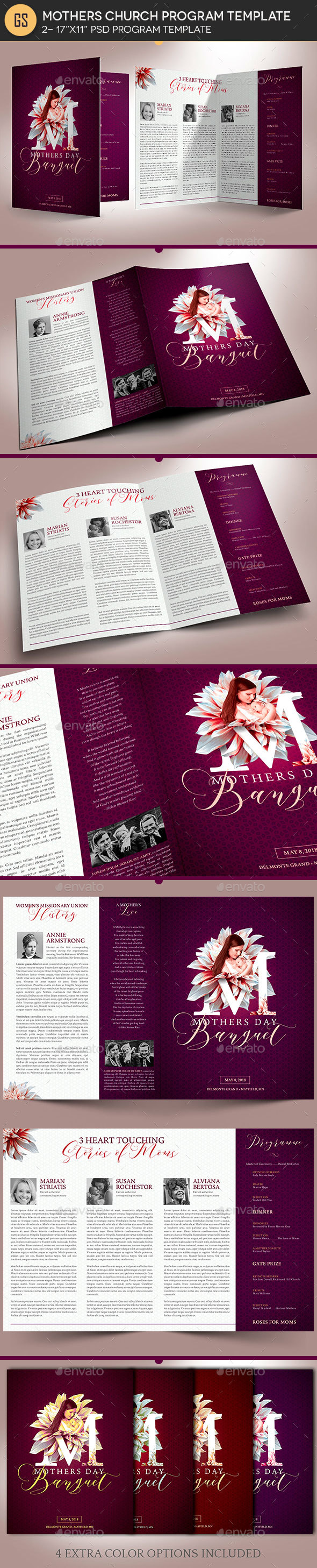 Mothers Day Church Program Template by Godserv | GraphicRiver