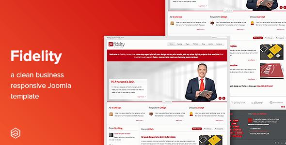 Fidelity - Business Responsive Joomla Template