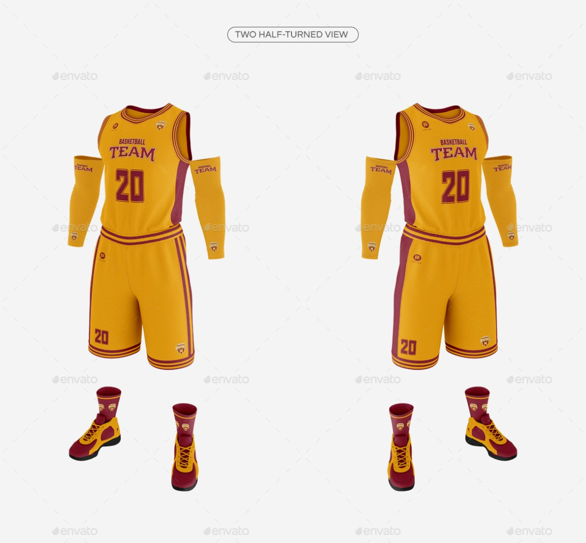 Download Mockup Basketball Uniform Free - Basketball jersey mockup ...
