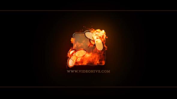 realistic fire logo v2