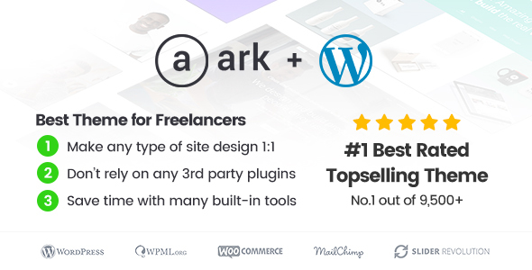 The Ark   WordPress Theme made for Freelancers version 1.48.0