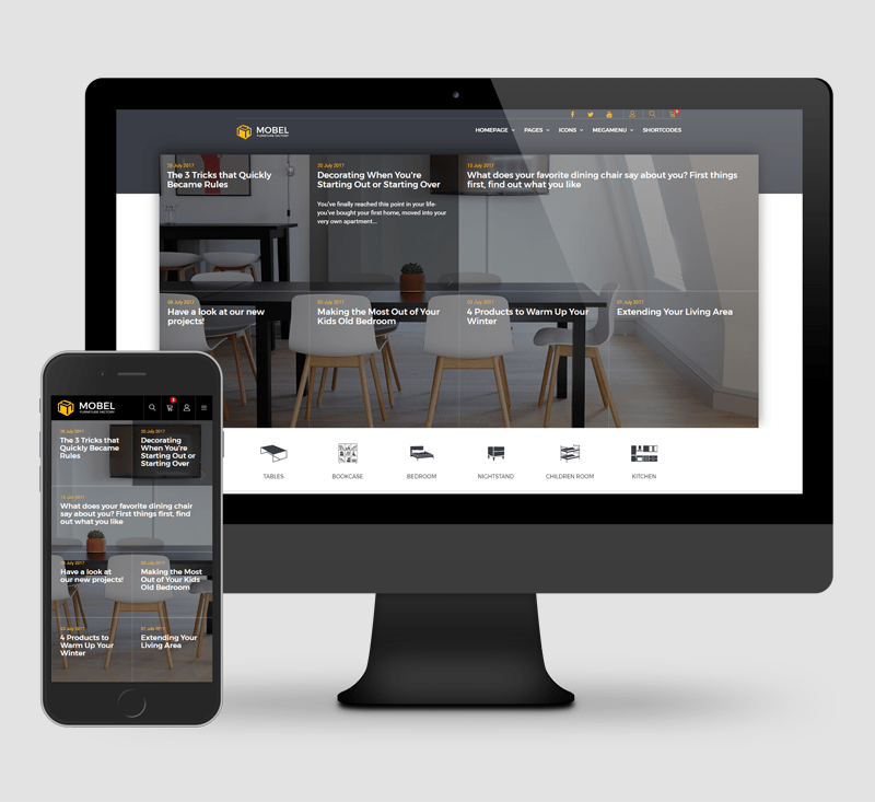 Mobel Furniture HTML Template By ElaThemes ThemeForest