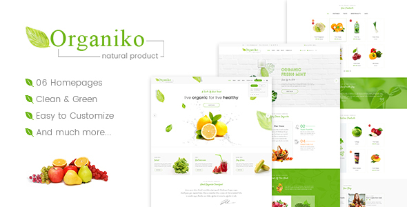 Organiko - Farm & Food Business WordPress Theme version 2.0.1